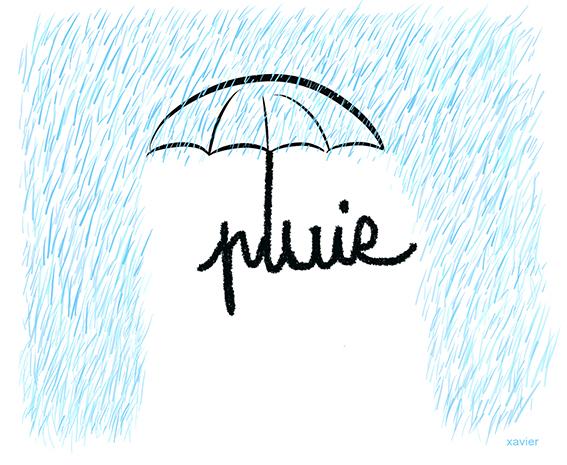 Let us sing in the rain, Umbrella, Take out its umbrella, Weather, Climate, Weather forecast, Bad weather, Embellishes with images XavierChantons sous la pluie, Parapluie, sortir son parapluie, Météo, Climat, Prévision météorologique, Mauvais temps, Image Xavier