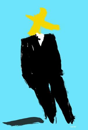 Who is at the head of the power? The anonymous power. Who is the man in black suit? Qui est à la tête du pouvoir? Le pouvoir anonyme. Qui est l'homme en costume noir?