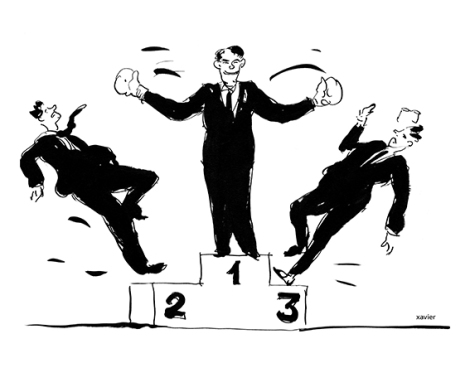 Want to be the first one, How to beat his competitors, Image of Xavier, Number 1, At the top of the podium, Vouloir être le premier, Comment battre ses concurrents, Image de Xavier, Numéro 1, En haut du podium