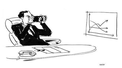 To observe the future with binoculars, Economic, Curved Statistics of the rates of economic growth, Embellishes with images xavier, Observer l'avenir avec des jumelles, Statistiques économiques, Courbes des taux de croissance économique, Image xavier