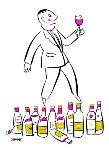 Wine merchant tasting of wine oenologist choice white red wine tasting edition publishing presses caviste dégustation de vin oenologue choix vin rouge blanc dégustation xavier édition presse