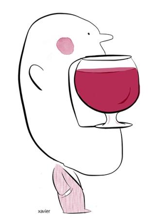 drink wine glass taste savour tasting admit oenology alcoholic alcohol edition publishing boire un verre de vin verre déguster dégustation avouer oenologie alcool alcoolique xavier illustration édition