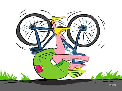 El cansancio corredor ciclista entrainement bicicleta tortuga llena de imágenes ilustración deportiva saludla fatigue coureur cycliste entrainement vélo tortue image illustration sportive xavier santé