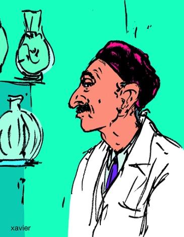 Retrato que comercia Tunisia dibujado xavier reportaje Trading portrait Tunisia drawn portrait commerçant tunisie dessiné reportage