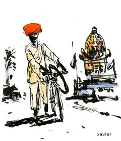 34 - L'indien au vélo xavier