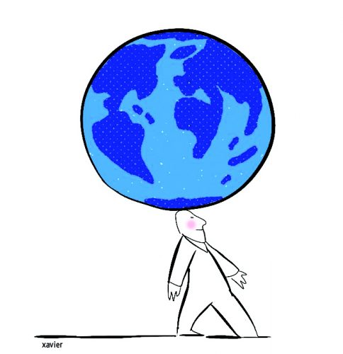 Protection of the earth, the nature and the ecology, the quality of life, the protection environment, illustration xavier, drawing current events,protection de la terre, nature et écologie, qualité de vie, protection environnement, illustration xavier, dessin actualité,