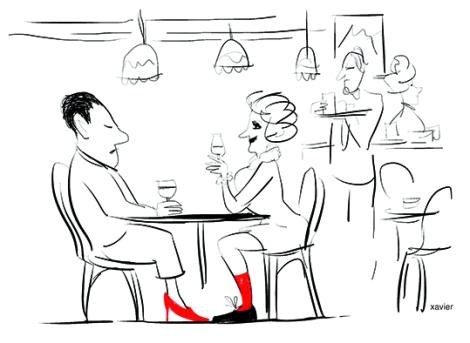 Love relation change sex man woman humor drawing relation amoureuse changement sexe homme femme humour dessin xavier illustration
