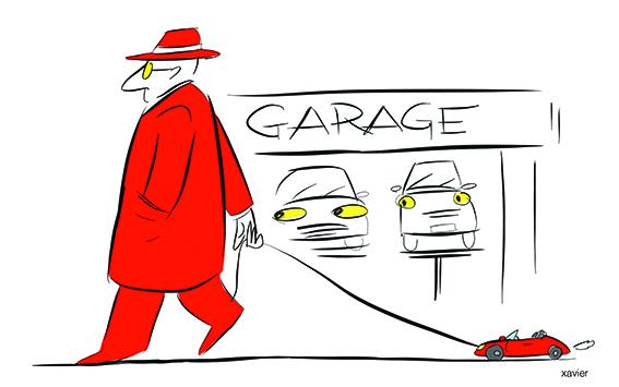 Drawing humor company society transports garage automobile nonsense dessin humour société voiture garage absurdité automobile xavier