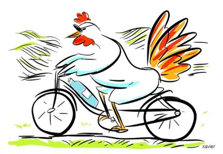 Entrega edición ilustración juventud dibujo humor animales gallina Deliver edition publishing illustration youth drawing humor animals hen livre édition illustration jeunesse dessin humour animaux poule xavier