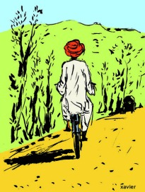 Tourism India Indian travels transport guides pad travels illustration xavier drawing embellishes with images Viaje turismo India océano Índico transporte guía libreta viaja ilustración xavier dibujo llena imágenes voyage tourisme indien transport guide carnet voyage illustration xavier dessin image radjasthan