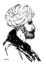 voyage inde indien portrait barbe turban tradition radjathan profil dessin image India Indian travels portrait xavier annoys turban tradition profile drawing images