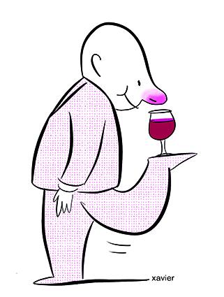petit verre de vin du sommelier, savoir savourer avec délice un petit verre de vin.
