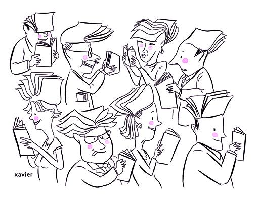 Gentleman and madam reading in a bookshop, to travel a library, a lira it is to like, to discover, to meet, the reading that's life,monsieur et madame lecture dans une librairie, parcourir une bibliothèque, lire c'est aimer, découvrir, rencontrer, la lecture c'est la vie, xavier,Señor y señora lectura en una librería, recorrer una biblioteca, una lira es gustar, descubrir, encontrar, la lectura es la vida,
