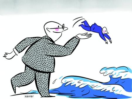 illustration de xavier pour illustrer les relations humaines, le pouvoir et l'envie d'être toujours le gagnant