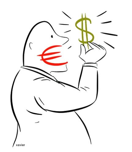 le dollar valeur de référence de l'euro et évaluation de lia vitalité de l'activité économique.